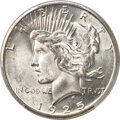 Peace Dollars, 1925-S $1 MS65 PCGS. CAC....