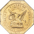1851 $50 RE Humbert Fifty Dollar, Reeded Edge, 887 Thous. -- Obverse Repaired, Improperly Cleaned -- NCS. AU Details. K-...