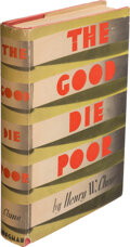 Books:Mystery & Detective Fiction, Henry W. Clune. The Good Die Poor. New York: Longmans, Green, [1937]. First edition. Signed by the author on the...
