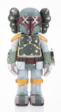 Collectible, KAWS X Lucas Films. Boba Fett, 2013. Painted cast vinyl. 9-3/4 x 4-5/8 x 3-3/4 inches (24.8 x 11.7 x 9.5 cm). Stamped to...