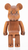 Collectible, KAWS X BE@RBRICK. BWWT 400%, 2005. Karimoku wood. 10-3/4 x 5-1/4 x 3-1/2 inches (27.3 x 13.3 x 8.9 cm). Incised on the r...