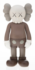 Collectible, KAWS (b. 1974). Five Years Later Companion (Brown), 2004. Painted cast vinyl. 14-3/4 x 6-1/2 x 3-3/4 inches (37.5 x 16.5...