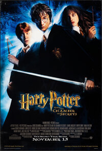 """Harry Potter and the Chamber of Secrets (Warner Bros., 2002). Rolled, Very Fine-. One Sheet (27"""" X 40"""") DS Adv..."""