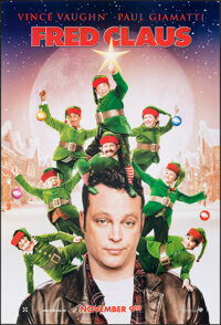"""Fred Claus & Other Lot (Warner Bros., 2007). Rolled, Very Fine+. One Sheets (3) (Approx. 27"""" X 40"""") DS Adv..."""