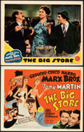 """Movie Posters:Comedy, The Big Store (MGM, 1941). Very Fine+. Title Lobby Card & Lobby Card (11"""" X 14"""") Al Hirschfeld Artwork.. ... (Total: 2 Items)"""