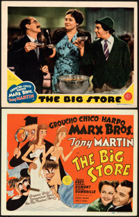 "The Big Store (MGM, 1941). Very Fine+. Title Lobby Card & Lobby Card (11"" X 14"") Al Hirschfeld Artwork..."