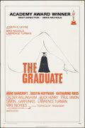 "Movie Posters:Comedy, The Graduate (Avco-Embassy, R-1972). Folded, Fine/Very Fine. One Sheet (27"" X 41""). Comedy.. ..."