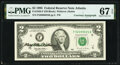 Mary Ellen Withrow Courtesy Autographed Radar Serial Number 52099025 Fr. 1936-F $2 1995 Federal Reserve Note. PMG Superb...