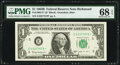 Small Size:Federal Reserve Notes, Fr. 1902-E* $1 1963B Federal Reserve Note. PMG Superb Gem Unc 68 EPQ.. ...