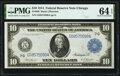 Large Size:Federal Reserve Notes, Fr. 930 $10 1914 Federal Reserve Note PMG Choice Uncirculated 64 EPQ.. ...