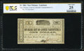 Obsoletes By State:Louisiana, New Orleans, LA- New Orleans, Coast and Lafourche Transporation Co. $1 Dec. 5, 1861 PCGS Banknote Very Fine 25.. ...