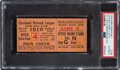 Baseball Collectibles:Tickets, 1919 World Series (Game Seven) Ticket Stub, PSA Authentic....
