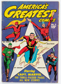 America's Greatest Comics #2 (Fawcett Publications, 1942) Condition: GD-