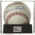 Autographs:Baseballs, Harmon Killebrew Single Signed Baseball, PSA Gem Mint 10.Exceptional Gem Mint example of Killer's Hall of Fame signature....