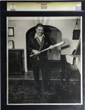 Baseball Collectibles:Photos, Late 1940's Babe Ruth Oversized Culver Service Photograph. The Babeposes for photographer Morris Engel of New York City's ...