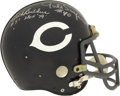Football Collectibles:Helmets, Dick Butkus & Gayle Sayers Singed Bears Helmet. The full sized Chicago Bears Riddell replica helmet has the honor of holdin...