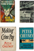 Books:Mystery & Detective Fiction, Peter Cheyney. Group of Four Hardcover Short Stories and Anthologies. London: Various publishers, [1944] - 1953. Including t... (Total: 4 Items)