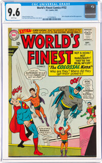 World's Finest Comics #152 (DC, 1965) CGC NM+ 9.6 White pages
