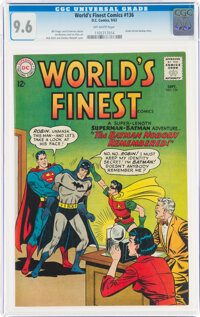 World's Finest Comics #136 (DC, 1963) CGC NM+ 9.6 Off-white pages