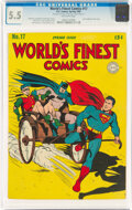 Golden Age (1938-1955):Superhero, World's Finest Comics #17 (DC, 1945) CGC FN- 5.5 Off-white pages....