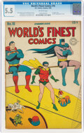 Golden Age (1938-1955):Superhero, World's Finest Comics #18 (DC, 1945) CGC FN- 5.5 Off-white pages....