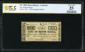 Obsoletes By State:Louisiana, Baton Rouge, LA- City of Baton Rouge 10¢ June 18, 1862 PCGS Banknote Very Fine 25.. ...