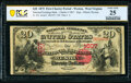 National Bank Notes:West Virginia, Weston, WV - $20 1875 Fr. 432 The National Exchange Bank Ch. # 1607 PCGS Banknote Very Fine 25.. ...