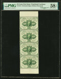 Fr. 1241 10¢ First Issue Uncut Strip of Four PMG Choice About Unc 58 EPQ