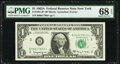 Small Size:Federal Reserve Notes, Fr. 1901-B* $1 1963A Federal Reserve Star Note. PMG Superb Gem Unc 68 EPQ.. ...