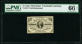 Fr. 1227 3¢ Third Issue PMG Gem Uncirculated 66 EPQ