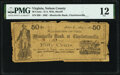 Obsoletes By State:Virginia, Nelson County (Lovingston), VA- D.A. Witt (Sheriff) at Monticello Bank at Charlottesville 50¢ May 1, 1862 Jones Littlefield ...