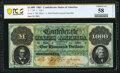 Confederate Notes:1861 Issues, T1 $1,000 1861 PF-1 Cr. 1 PCGS Banknote Choice About Unc 58 Details.. ...