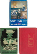 Books:Mystery & Detective Fiction, Archibald Marshall. Group of Three Crime Fiction Novels. Boston, New York and London: Various publishers, 1905-1935.... (Total: 3 Items)