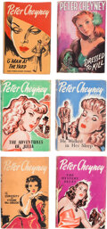 Books:Mystery & Detective Fiction, Peter Cheyney. Group of Six Mystery Novels. London: Todd Publishing Group, 1952-1954. One first edition.... (Total: 6 Items)