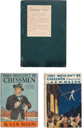Books:Mystery & Detective Fiction, A. E. W. Mason. Group of Three Paris Crime Fiction Novels. New York and London: various publishers, 1907-1935.... (Total: 3 Items)