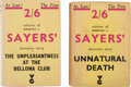 Books:Mystery & Detective Fiction, Dorothy L. Sayers. Pair of Crime Fiction Novels from Victor Gollancz, [1935]-[1936].... (Total: 2 Items)