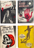 Books:Mystery & Detective Fiction, Frederic Brown. Lot of Four First Editions. New York: Dutton, 1948-1949. ... (Total: 4 Items)