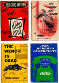 Books:Mystery & Detective Fiction, Frederic Brown. Lot of Four First Editions. New York: Dutton, 1952-1963. ... (Total: 4 Items)