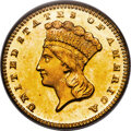 Gold Dollars, 1872 G$1 MS67 PCGS. CAC....