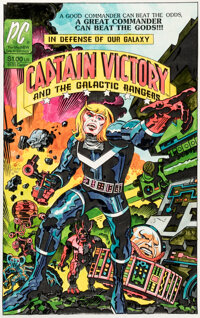 Captain Victory Hand-Colored Promotional Print (Pacific Comics, c. 1982)
