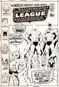 Original Comic Art:Covers, Neal Adams and Dick Giordano Justice League of America #89 Cover Original Art (DC, 1971)....