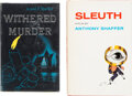 Books:Mystery & Detective Fiction, Anthony Shaffer. Pair of Signed Copies. New York: various publishers, 1956-1970. First editions, publisher's reviews... (Total: 2 Items)