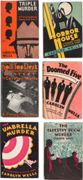 Books:Mystery & Detective Fiction, Carolyn Wells. Lot of Six First Editions. Philadelphia: Lippincott, 1929-1932. ... (Total: 6 Items)