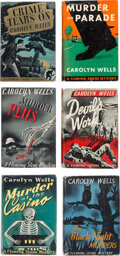 Books:Mystery & Detective Fiction, Carolyn Wells. Lot of Six First Editions. Philadelphia: Lippincott, 1939-1941.... (Total: 6 Items)