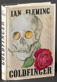 """Goldfinger by Ian Fleming (Macmillan, 1959). Fine+. First U.S. Edition Hardcover Book (318 Pages, 5.25"""" X 7.75""""..."""