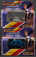 Movie Posters:James Bond, James Bond - A View to a Kill & Other Lot (Matchbox International, 1985). Very Fine-. Die-Cast Model Cars in Original Packag... (Total: 3 Items)