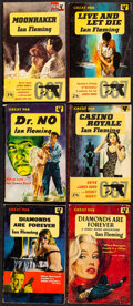 "Movie Posters:James Bond, James Bond Paperbacks by Ian Fleming (Pan Books, 1958 - 1963). Fine+. British Paperback Books (6) (Multiple Pages, 4.5"" X 7""..."