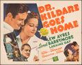 "Movie Posters:Drama, Dr. Kildare Goes Home (MGM, 1940). Folded, Very Fine-. Half Sheet (22"" X 28""). Drama.. ..."