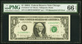 Error Notes:Mismatched Serial Numbers, Mismatched Serial Number Error Fr. 1916-G* $1 1988A Federal Reserve Note. PMG Gem Uncirculated 66 EPQ.. ...