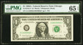 Error Notes:Mismatched Serial Numbers, Mismatched Serial Number Error Fr. 1916-G* $1 1988A Federal Reserve Note. PMG Gem Uncirculated 65 EPQ.. ...